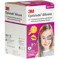 Opticlude Silicone Oogpleister Maxi Girls 5,7cm x 8cm 2739PB50 50 st