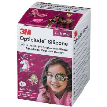 Opticlude Silicone Oogpleister Midi Girls 2738PG50 50 stuks