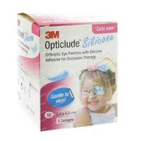Opticlude Silicone Oogpleister Mini Girls 5cm x 6cm 2737PB50 50 st