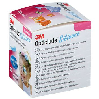 Opticlude Silicone Pansement Orthoptique Mini Girls 5cm x 6cm 2737PB50 50 pièces