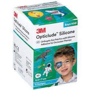 Opticlude Silicone Oogpleister Midi Boys 5,3cm x 7cm 2738PB50 50 stuks