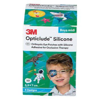 Opticlude Silicone Oogpleister Midi Boys 5,3cm x 7cm 2738PB50 50 st