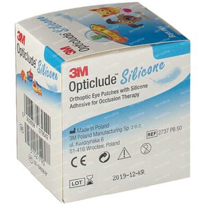 Opticlude Silicone Oogpleister Mini Boys 5cm x 6xm 2737PB50 50 stuks