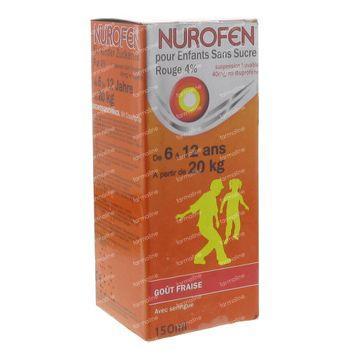 Nurofen Enfant Sirop 4% Fraise 150 ml