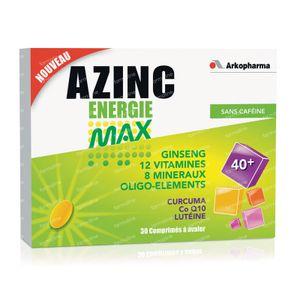 Azinc Energy Max 30 tablets