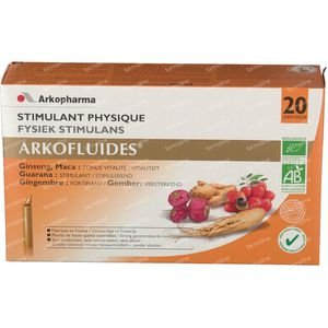 Arkofluide Fysiek + Intellectueel Stimulans 20 unidosis