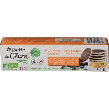 Céliane Chocolat Noir Biscuit Orange 150 g