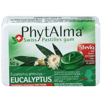 Phytalma Eucalyptus Zonder Suiker 50 g kauwgom