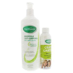 Dermalex Body Milk + GRATIS Waslotion 150ml 500 ml