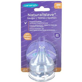 Lansinoh Tetine Natural Wave Fast 2 pièces