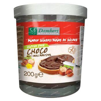 Damhert Moins de Sucres Pate Chocolat Noisette avec Maltitol 200 g