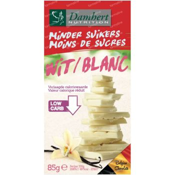 Damhert Chocolade Blanc Sans Sucre 85 g