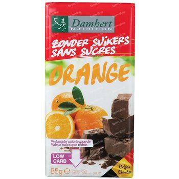 Damhert Chocolade Noir Orange Sans Sucre 85 g