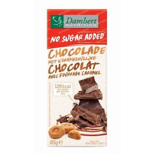 Damhert Melkchocolade Caramel Zonder Suiker 85 g