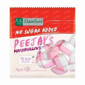 Damhert Peejay's Marshmellows Sans Sucre 75 g