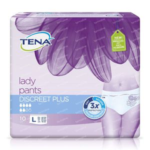 Tena Lady Pants Discreet Plus L 797610 10 stuks