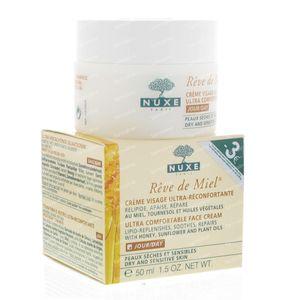 Nuxe Rêve De Miel Ultra Verzachtende Gelaatscrème Verlaagde Prijs 50 ml