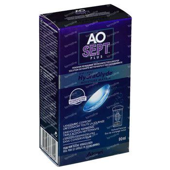 Aosept Plus Avec Hydraglyde + 1 Etui à Lentilles 90 ml