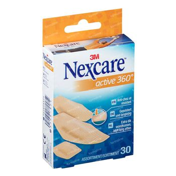 Nexcare Active Strips 360° Assortiment 30 pièces