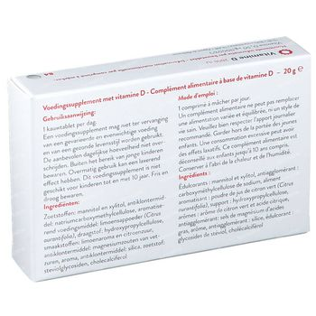 Vitamine D3 2000IU 84 kauwtabletten
