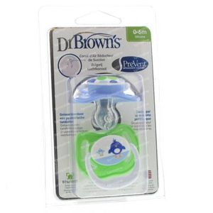 Dr Brown Fopspeen Level 1 Boy 2 stuks
