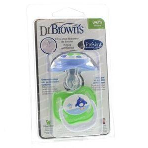 Dr Brown Schnuller Level 1 Boy 2 st