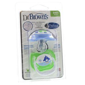 Dr Brown Sucette Level 1 Boy 2 pièces