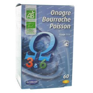 Orthonat Evening Primrose-Borage-Fish 60 capsules