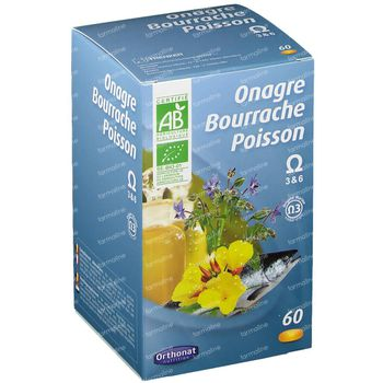 Orthonat Onagre-Bourrache-Poisson 60 capsules