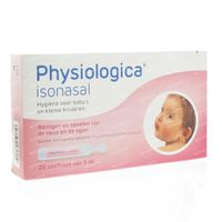 Physiologica Isonasal 5ml 20x5 ml ampoules