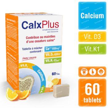 CalxPlus D'Orange Sans Sucre 60 comprimés