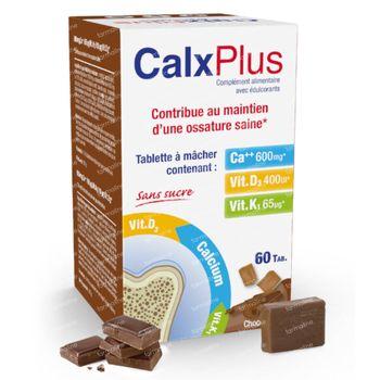 CalxPlus Bonbon Chocolat Sans Sucre 60 comprimés