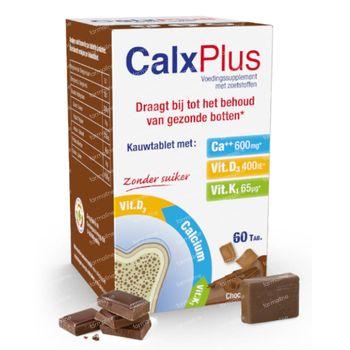 CalxPlus Chocolade zonder Suiker 60 tabletten