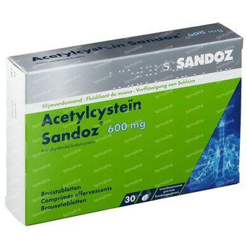 Acétylcystéine Sandoz 600mg Sachet 30 comprimés effervescents