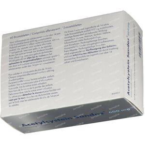 Acétylcystéine Sandoz 600mg Sachet 60 comprimés effervescents