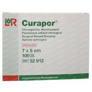 Curapor Verband Adh Steriel 7cm x 5cm 32912 100 stuks