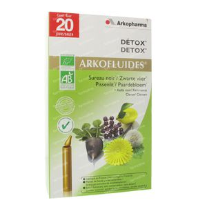 Arkofluide Détox Bio 20 unidosis