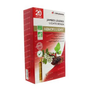 Arkofluide Jambes Légères Bio 20 unidosis