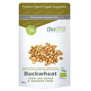 Biotona Buckwheat Raw Hulled & Sprouted Seeds 300 g