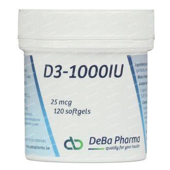 Deba D3-1000 25mcg 120 pièces