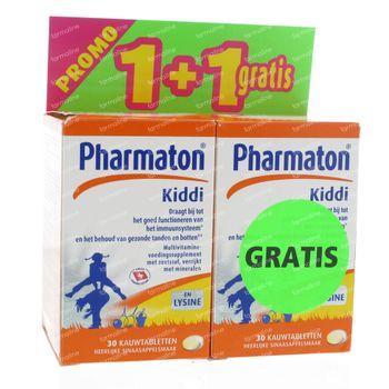 Pharmaton Kiddi Chewables + 30 Comprimés à Croquer GRATUIT 30+30 comprimés à croquer