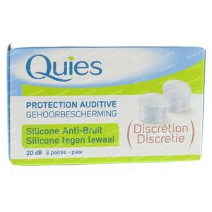 Quies Oordoppen Silicone Anti-Noise 1 St