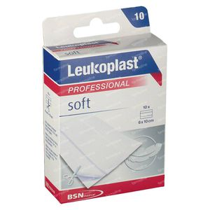 Leukoplast Soft 6cmx10cm 10 stuks