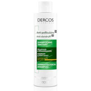 Vichy Dercos Shampooing Traitant Antipelliculaire Pellicules Sèches 200 ml