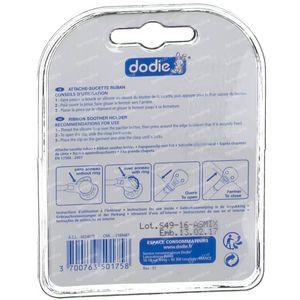 Dodie Fopspeenhouder Lint+Clip 1 stuk