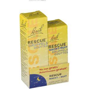 Bach Bloesem Rescue + Rescue Nuit Duopack 20+10 ml gouttes