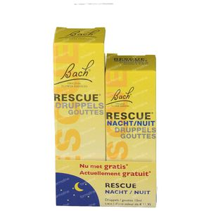 Bach Bloesem Rescue + Rescue Nacht Duopack 20+10 ml Druppels