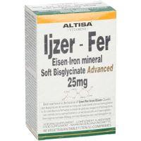 Altisa Eisen Bisglycinat 25mg 90  tabletten