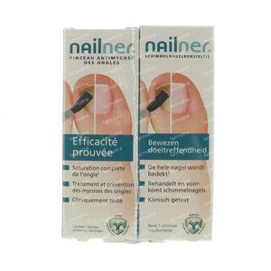Nailner Duopack Brush + Set Pedicure -10euro 10 ml