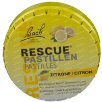 Bach Bloesem Rescue Pastilles Citron Sans Sucre 50 g